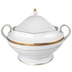Soupière 3 litres avec couvercle en porcelaine Totale Excellence
