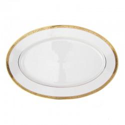 Plat ovale 36 cm en porcelaine Totale Excellence