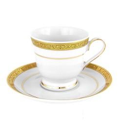 Tasse à café 100 ml avec soucoupe 13 cm Totale Excellence en porcelaine
