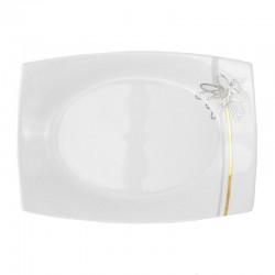 Plat rectangulaire 33 cm Songe d'Automne en porcelaine