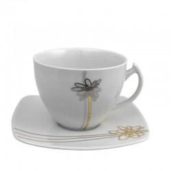 Tasse à thé 250 ml avec soucoupe 14 cm Songe d'Automne en porcelaine