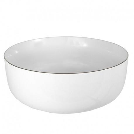 Saladier rond 21 cm haut Amoureuse en porcelaine