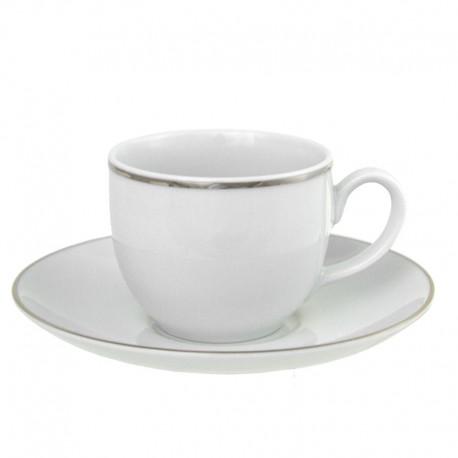 Tasse à café 100 ml avec soucoupe ronde Amoureuse en porcelaine