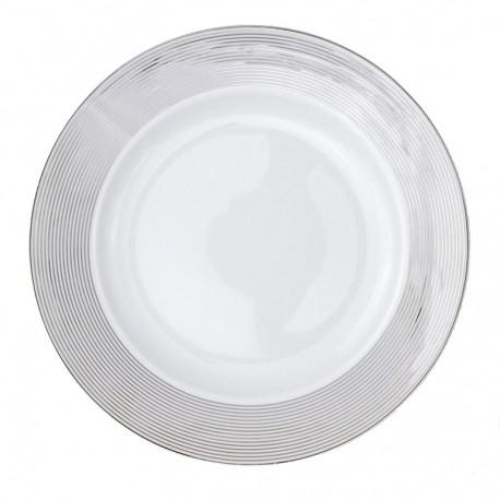 Plat creux rond à aile 29 cm Esquisse Exquise en porcelaine