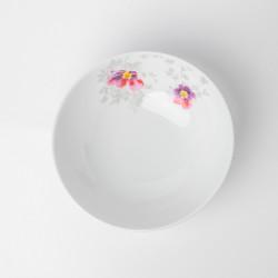 Assiette calotte 22 cm Brume de Cosmos en porcelaine