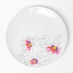 Assiette plate ronde 27 cm Brume de Cosmos en porcelaine