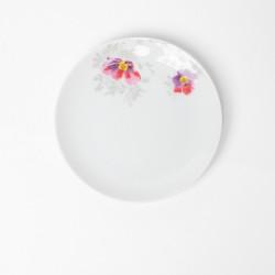 Assiette plate ronde 16.5 cm Brume du Cosmos en porcelaine