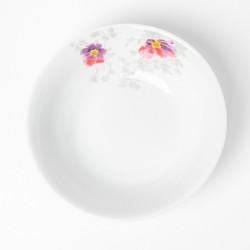 Saladier rond 23 cm Brume de Cosmos en porcelaine