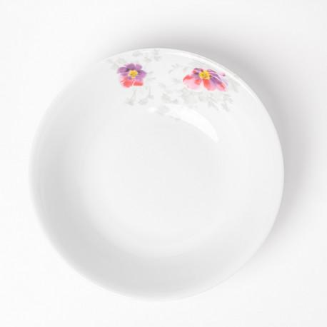 Saladier rond 26 cm Brume de Cosmos en porcelaine
