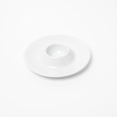 Coquetier Révérence Nivéenne en porcelaine blanche