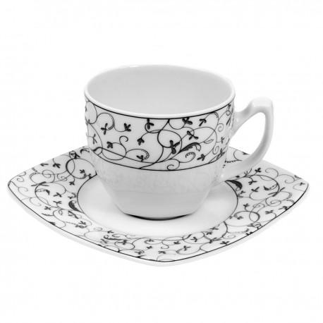 Tasse à thé 0,2 l avec soucoupe Fleur de Pommier en porcelaine