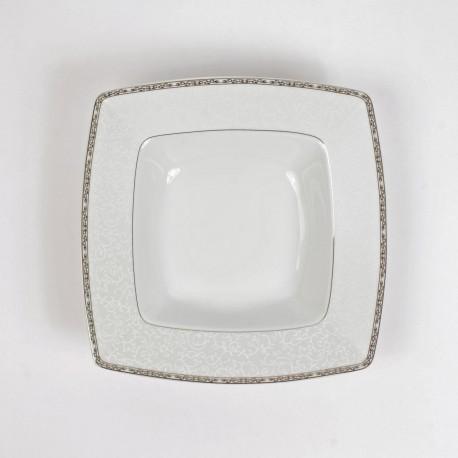 Assiette creuse 21,5 cm Iris en porcelaine