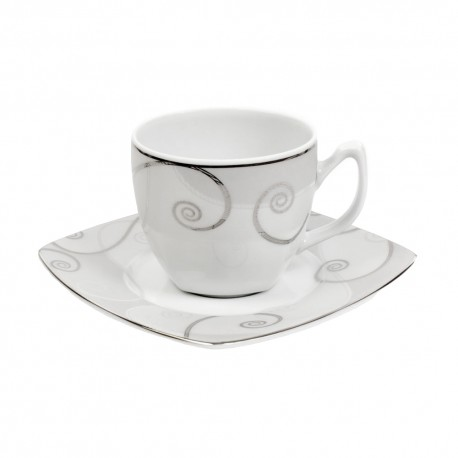 Tasse à thé 0,2 l avec soucoupe Lavande en porcelaine