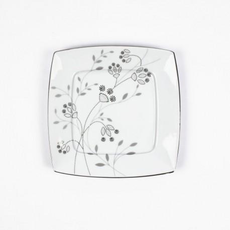 Assiette plate 21 cm Céanothe en porcelaine