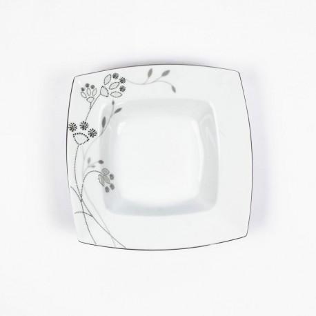 Assiette creuse 21,5 cm Céanothe en porcelaine