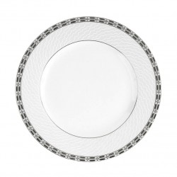 Assiette plate à aile 24.5 cm Vague de neige en porcelaine