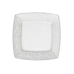 Assiette plate 21 cm Rose en porcelaine