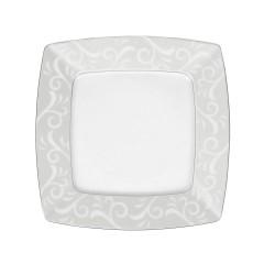 Assiette plate 25,7 cm Rose en porcelaine