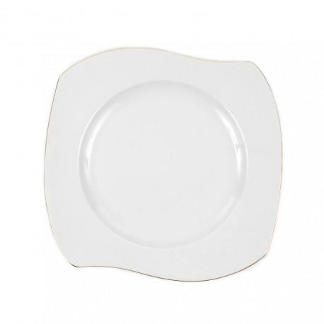Assiette plate 25 cm Cytise en porcelaine