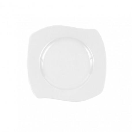 Assiette plate 21 cm Gaillarde en porcelaine