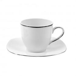 Tasse 0,2 l avec soucoupe Bergenia en porcelaine