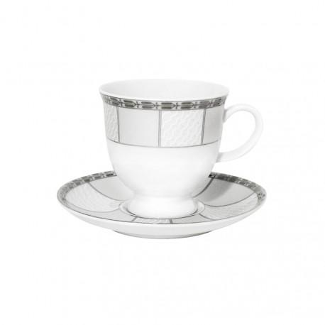 Tasse à café 0,1 l avec soucoupe 13 cm Rhododendron en porcelaine