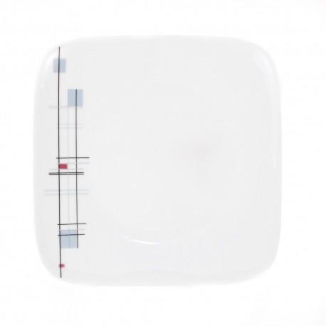 Assiette plate 30,5 cm Edelweiss en porcelaine