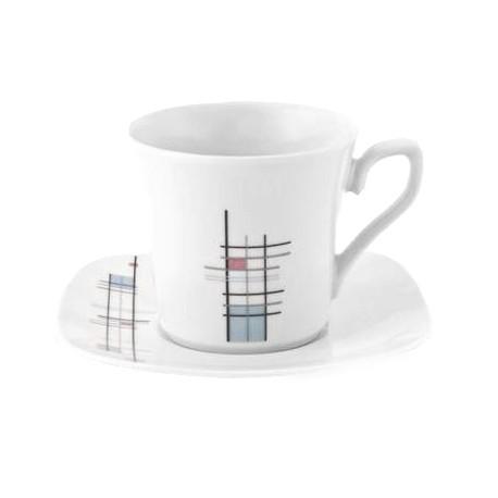 Tasse à thé 220 ml avec soucoupe Edelweiss en porcelaine