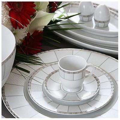 sélection premium be98c e94a7 Service complet de vaisselle en porcelaine blanche Danse de ...