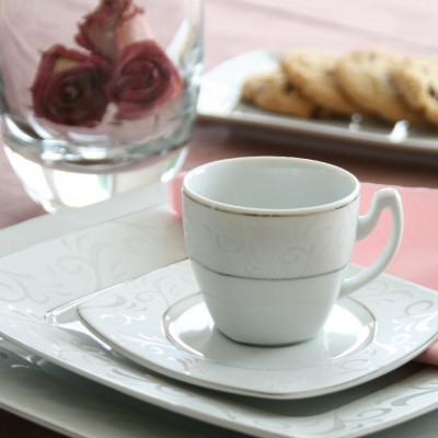 tasse assiette service de table en porcelaine fine tasse assiette. Black Bedroom Furniture Sets. Home Design Ideas