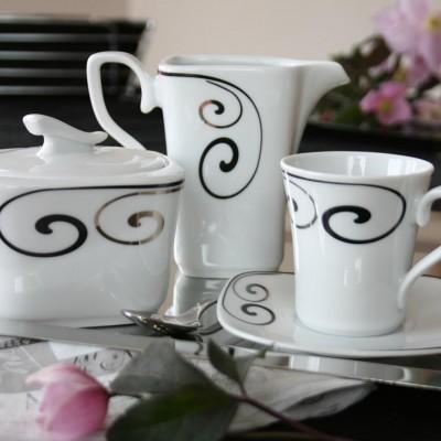 service complet de vaisselle en porcelaine blanche figuier en eden tasse assiette. Black Bedroom Furniture Sets. Home Design Ideas