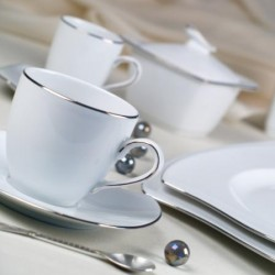 meilleur pas cher c7f0f cbff6 Services complets de vaisselle en porcelaine blanche de ...