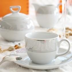 services complets de vaisselle en porcelaine blanche de style moderne tasse assiette. Black Bedroom Furniture Sets. Home Design Ideas
