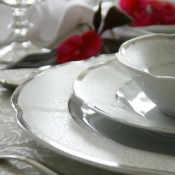 services complets de vaisselle en porcelaine blanche platine services de table vaisselles en. Black Bedroom Furniture Sets. Home Design Ideas